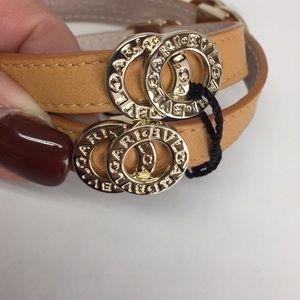 BVLGARI double wrap tan bracelet